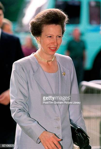Princess Anne Arriving For The Q. Mother's 100th Birthday Pageant At Horseguards Parade In London.