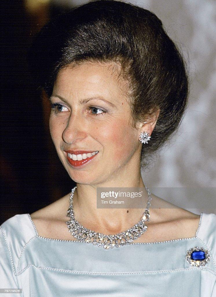 Princess Anne at a banquet in Dubai, United Arab Emirates, : News Photo