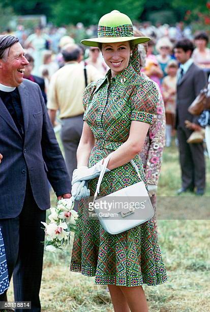 Princess Anne At A Village Fete In Great Somerford.
