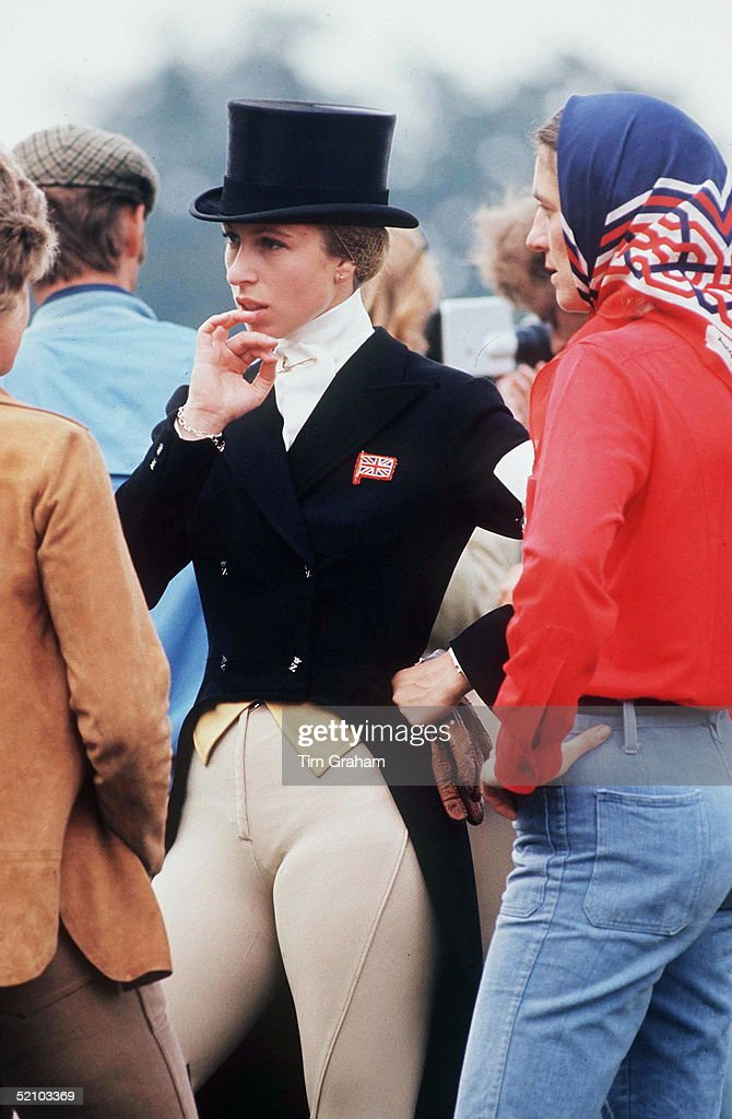 Anne In Dressage Outfit : News Photo