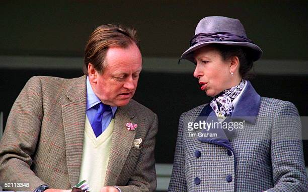 Princess Anne At Cheltenham Races Chatting With Her Friend Andrew Parkerbowles