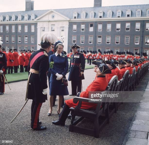Princess Anne at Founders Day Parade at the Royal Hospital in Chelsea.
