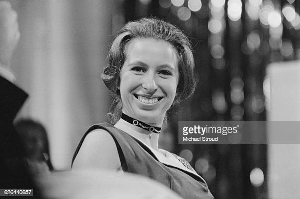 Princess Anne at the Albert Hall, London, where she is co-presenting the Society of Film and Television Arts Awards , 4th March 1971. The SFTA Awards...