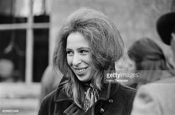 Princess Anne at the Badminton Horse Trials in South Gloucestershire, UK, 25th April 1971.