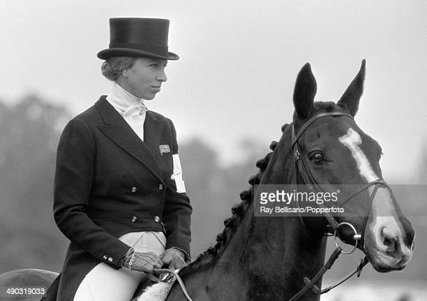 Princess Anne at the Burghley Horse Trials near Stamford on 15th September 1974