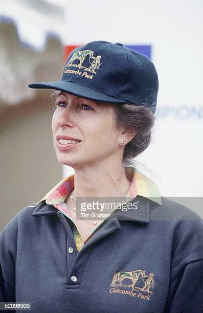 Princess Anne At The Gatcombe Park Horse Show The Princess Is Wearing A Sweatshirt And Baseball Cap Featuring The Gatcombe Park Logo