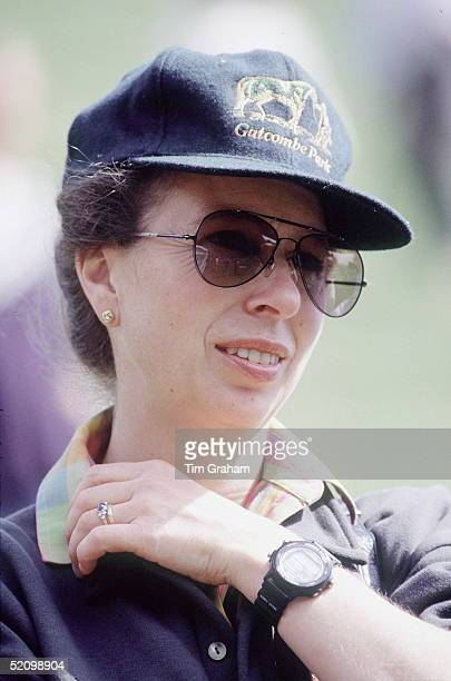 Princess Anne At The Gatcombe Park Horse Trials The Princess Is Wearing A Baseball Cap With The Gatcombe Park Logo On It She Is Also Wearing...