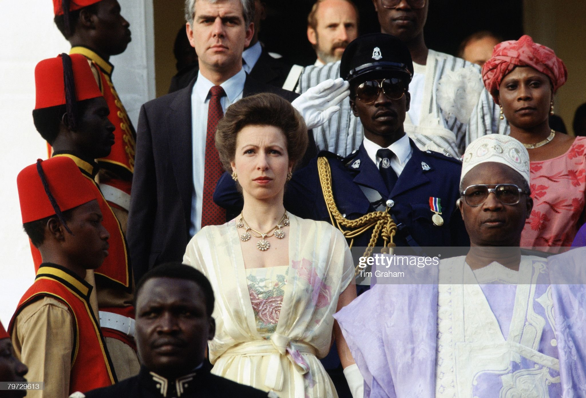 Princess Anne at the Independence Day celebrations in Banjul : News Photo