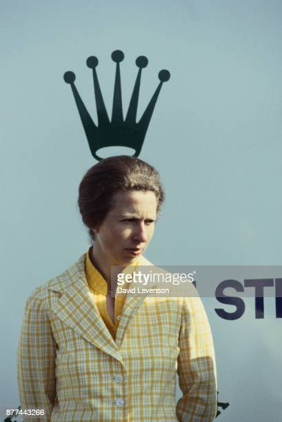 Princess Anne at the Jackie Stewart Celebrity Shooting Match at the North Wales Shooting School in Deeside on August 8 1982