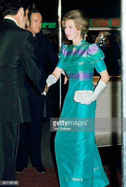Princess Anne Attending A Film Premiere At The Odeon In Leicester Square Circa 1977
