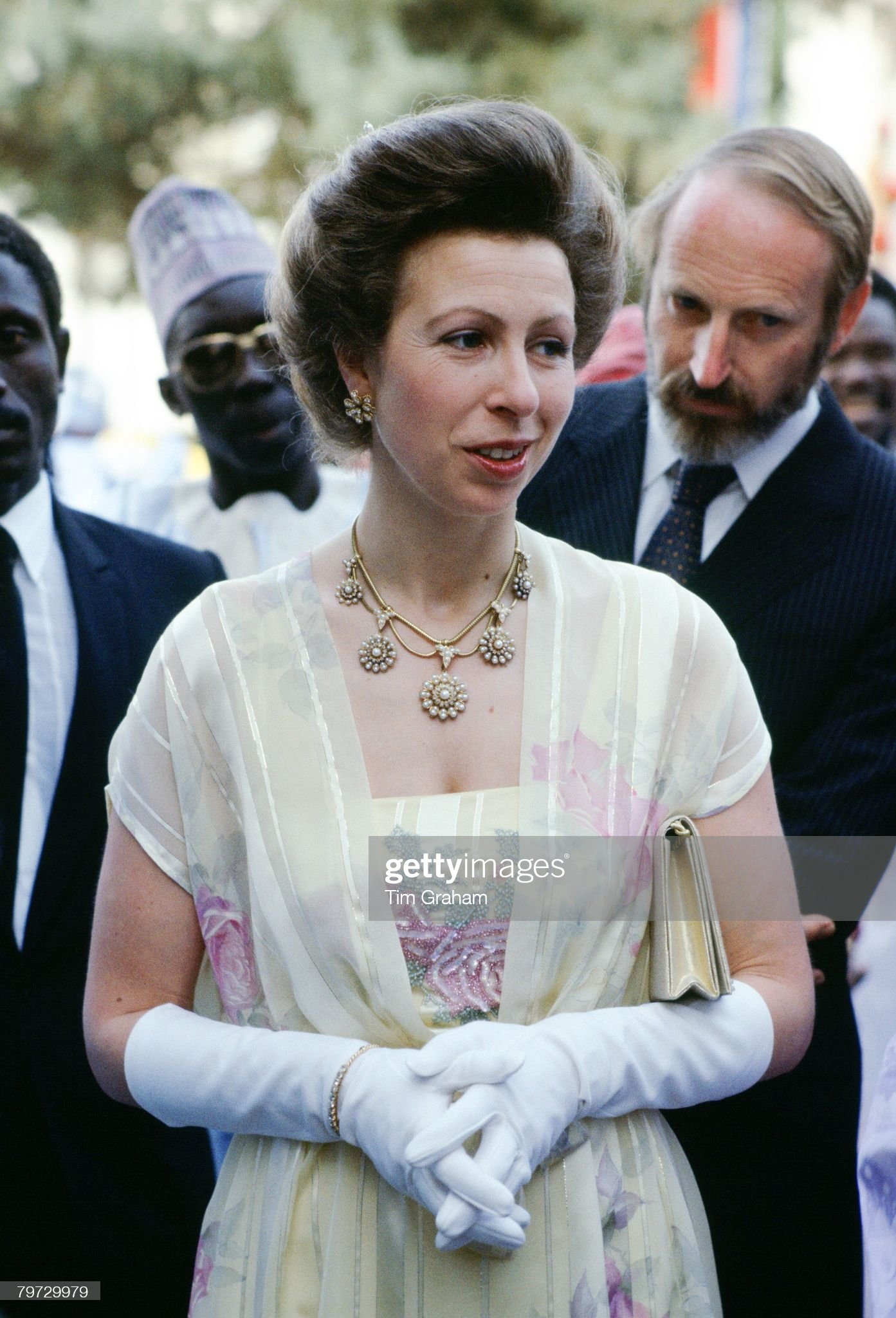 Princess Anne attends a banquet in Gambia, : News Photo