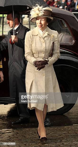 Princess Anne Attends A Service Celebrating Queen Elizabeth Ii And Prince Philip The Duke Of Edinburgh'S 60Th Diamond Wedding Anniversary At...