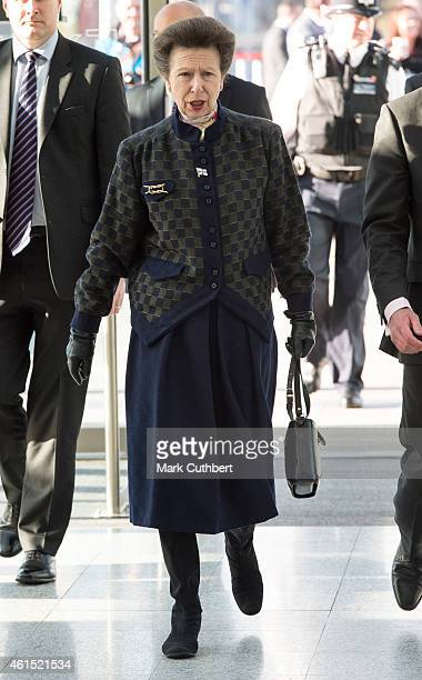 Princess Anne attends the London Boat Show at ExCel on January 14 2015 in London England