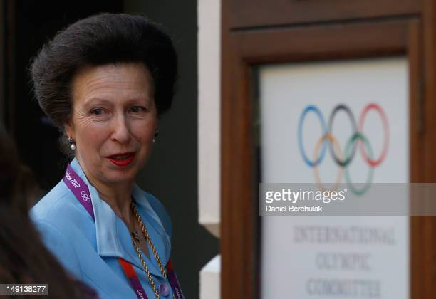 Princess Anne attends the Opening Ceremony of the 124th IOC Session prior to the start of the London 2012 Olympic Games at The Royal Opera House on...