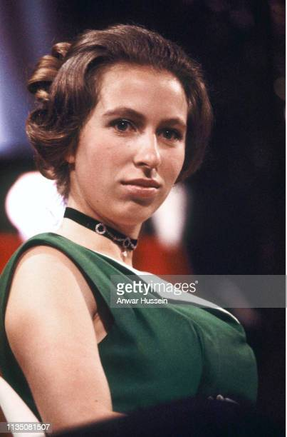 Princess Anne attends the Society of Film and Television Awards which later became BAFTA on March 04 1971 in London England
