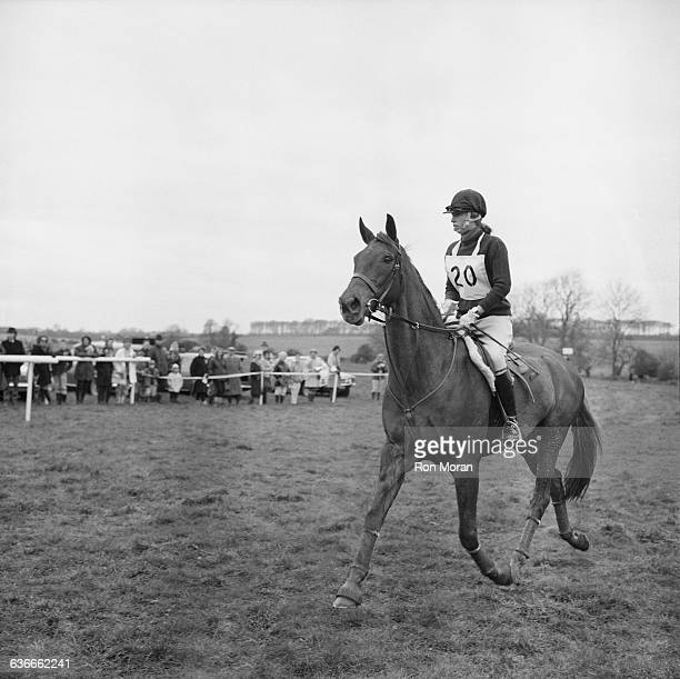 Princess Anne competes in the Badminton Horse Trials UK 26th April 1971