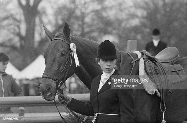 Princess Anne competes in the Badminton Horse Trials, UK, 26th April 1971.