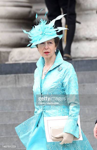 Princess Anne departs the Service of Thanksgiving at St Paul's Cathedral, as part of the Diamond Jubilee, marking the 60th anniversary of the...
