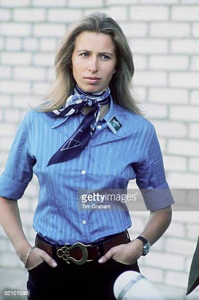 Princess Anne, Dressed Casually In Shirt And Jeans, In Kiev, Russia During Her Visit 5-11 September 1973