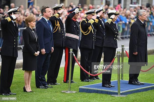 Princess Anne German President Joachim Gauck Scotland's First Minister Nicola Sturgeon and British Prime Minister David Cameron attend the...