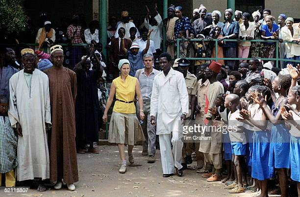 Princess Anne In Gambia Working As A Patron For Save The Childrenbehind Her Is Her Police Bodyguard Phil Robinson