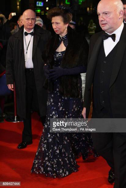 Princess Anne is escorted to The Lowry Theatre in Salford for the Royal Variety Performance