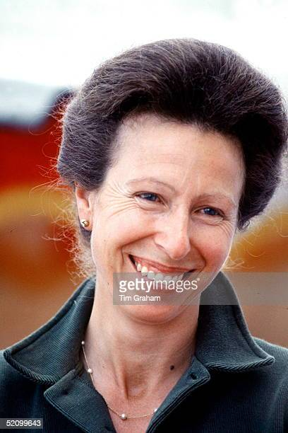 Princess Anne Laughing Smiling During The Calor Gas British Horse Trials Championships Held In The Grounds Of Her Home Gatcombe Park