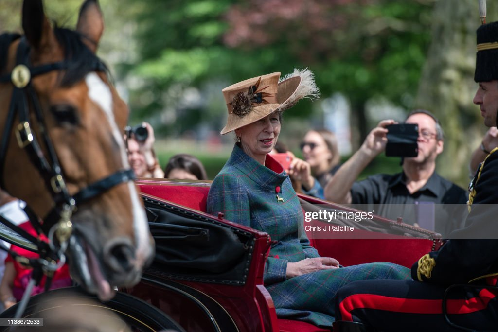 The Royal Horse Artillery Fires A 41 Salute To Mark Queen Elizabeth's 93rd Birthday : News Photo