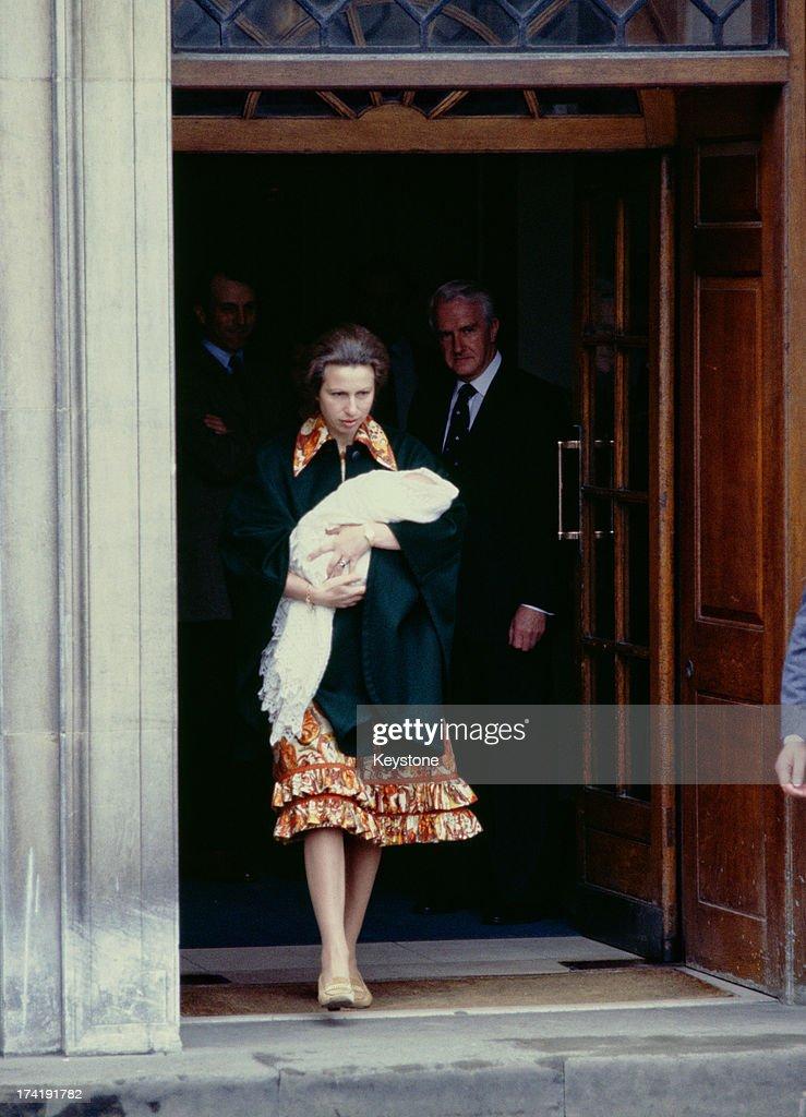 Princess Anne With Newborn Daughter : News Photo