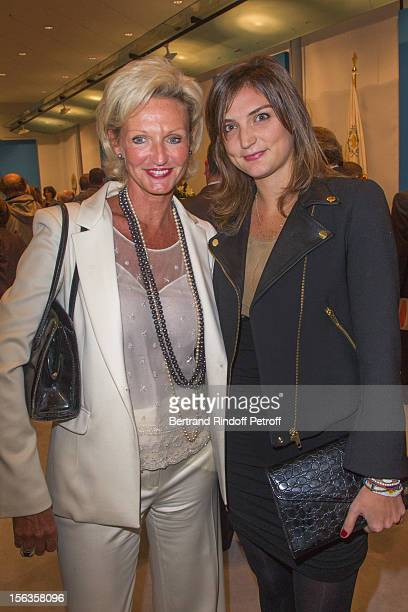 Princess Anne of BourbonTwo Sicilies and her daughter Dorothee Cochin attend the Royal House of BourbonTwo Sicilies Exhibition on November 13 2012 in...