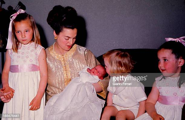 Princess Anne of Orleans with her four children Cristina Ines Maria and Pedro MadridCastilla La Mancha Spain