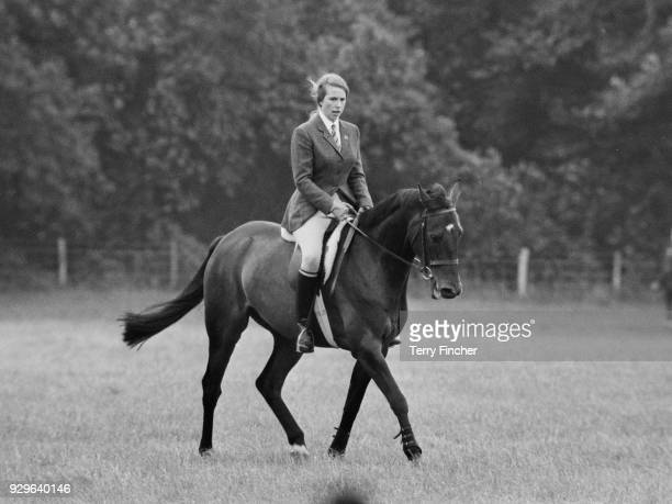 Princess Anne on horse Purple Star at Eridge Horse Trials, Kent, 3rd August 1968.
