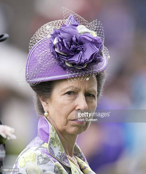 Princess Anne On The Third Day Of Royal Ascot.