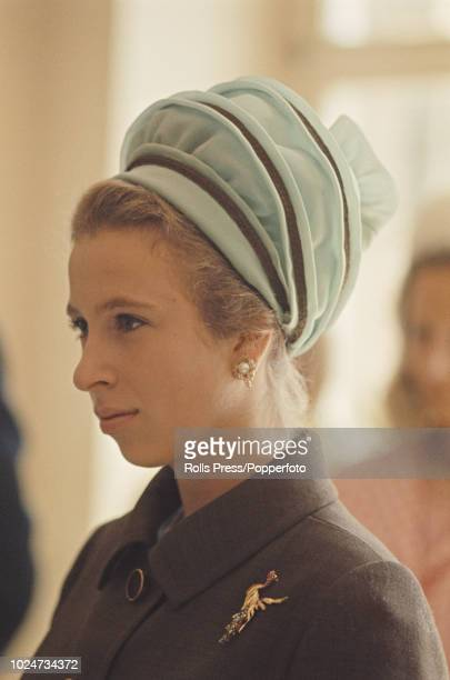 Princess Anne pictured as she attends a foundation stone laying ceremony for the new Florence Nightingale Hospital in Dusseldorf West Germany on 29th...