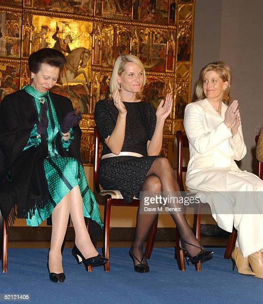 Princess Anne Princess MetteMarit and Sophie Countess of Wessex attend the Private View of Style and Splendour Queen Maud of Norway's Wardrobe...