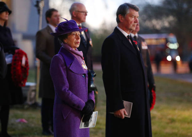 GBR: Princess Anne, Princess Royal Commemorates ANZAC Day