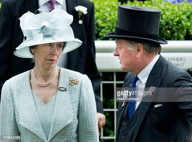 Princess Anne Princess Royal and Andrew Parker Bowles attend Day 1 of Royal Ascot at Ascot Racecourse on June 18 2013 in Ascot England
