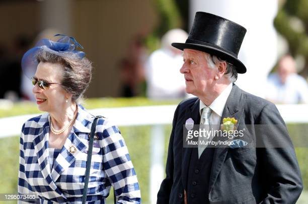 Princess Anne, Princess Royal and Andrew Parker Bowles attend day 2 of Royal Ascot at Ascot Racecourse on June 21, 2017 in Ascot, England.