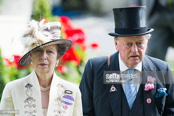 Princess Anne Princess Royal and Andrew Parker Bowles attend Ladies Day on day 3 of Royal Ascot at Ascot Racecourse on June 18 2015 in Ascot England