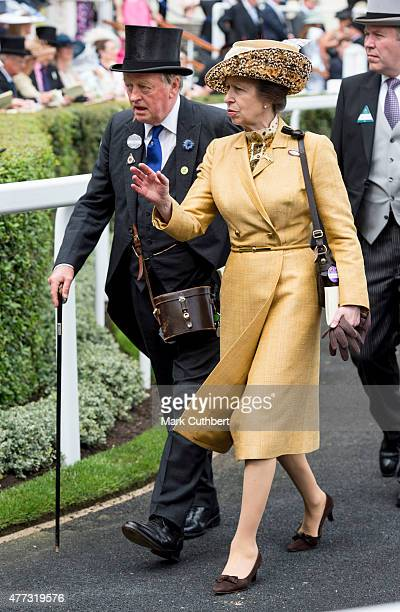 Princess Anne Princess Royal and Andrew Parker Bowles on day 1 of Royal Ascot at Ascot Racecourse on June 16 2015 in Ascot England