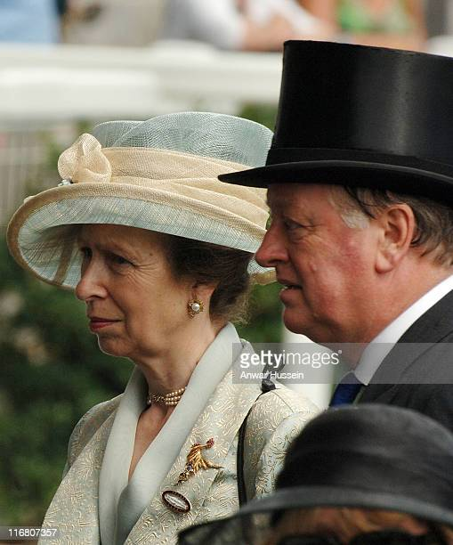 Princess Anne Princess Royal and Andrew ParkerBowles attend the first day of Royal Ascot on June 19 2007