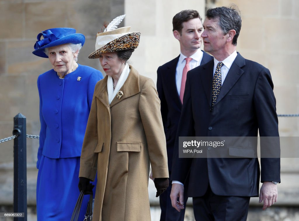 Royals at Easter Sunday church service : News Photo