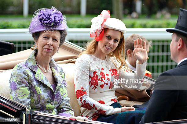 Princess Anne, Princess Royal and Princess Beatrice attend Ladies Day during Royal Ascot at Ascot Racecourse on June 21, 2012 in Ascot, England.