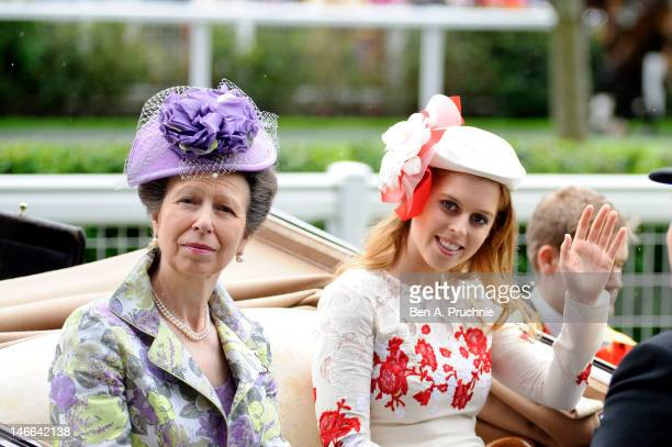 Princess Anne, Princess Royal and Princess Beatrice attends Ladies Day on day three of Royal Ascot at Ascot Racecourse on June 21, 2012 in Ascot,...