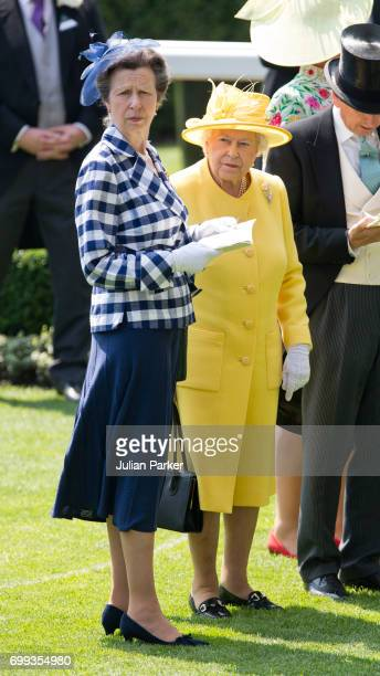 Princess Anne Princess Royal and Queen Elizabeth II attend the second day of Royal Ascot at Ascot Racecourse on June 21 2017 in Ascot England