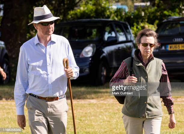 Princess Anne Princess Royal and Timothy Laurence at The Gatcombe Horse Trials at Gatcombe Park on September 14 2019 in Stroud England