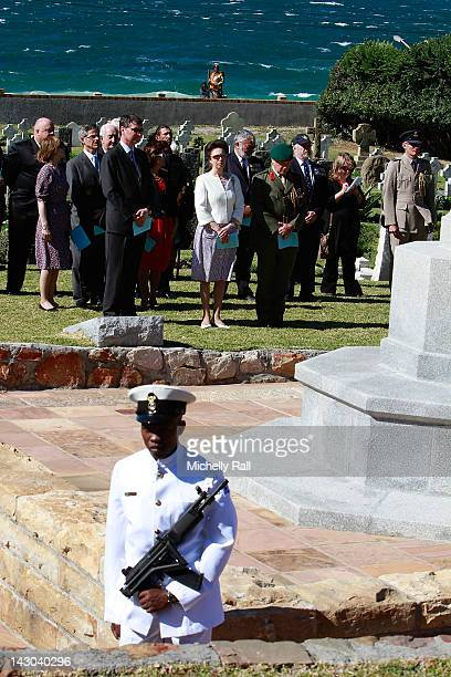 Princess Anne Princess Royal and Timothy Laurence visit the Dido Commonwealth War Graves where she lays a wreath prior to visiting the Duke of...