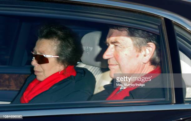 Princess Anne Princess Royal and Vice Admiral Sir Timothy Laurence attend a Christmas lunch for members of the Royal Family hosted by Queen Elizabeth...