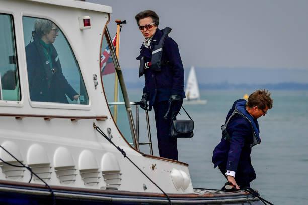 GBR: Princess Royal Visits Cowes