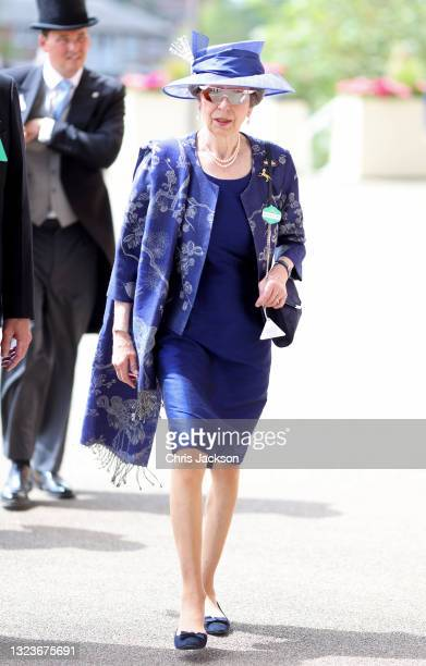 Princess Anne, Princess Royal arrives for Royal Ascot 2021 at Ascot Racecourse on June 15, 2021 in Ascot, England.